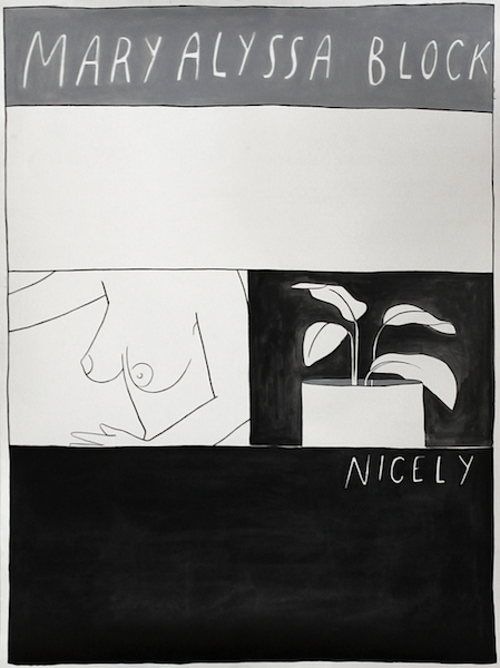 Nicely, 2012 Acrylic and ink on paper 48 x 36 inches