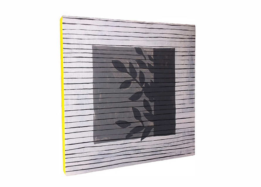 Blinds, 2014 Acrylic on panel 10 x 10 inches