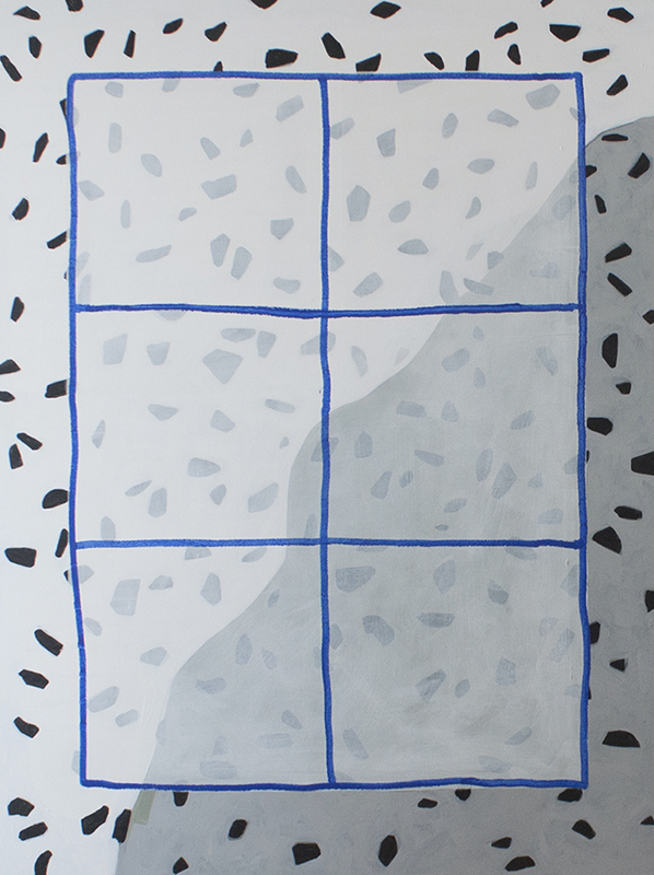 Blue Window, 2015 Acrylic on canvas 48 x 36 inches