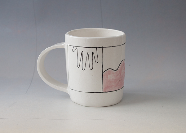 Conversation, 2016 Glazed ceramic cup