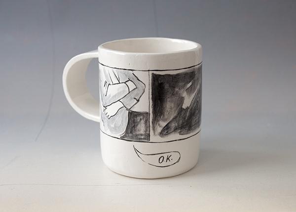 OK, 2016 Glazed ceramic cup