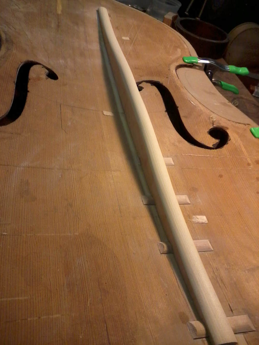 Double Bass repair done in 2012