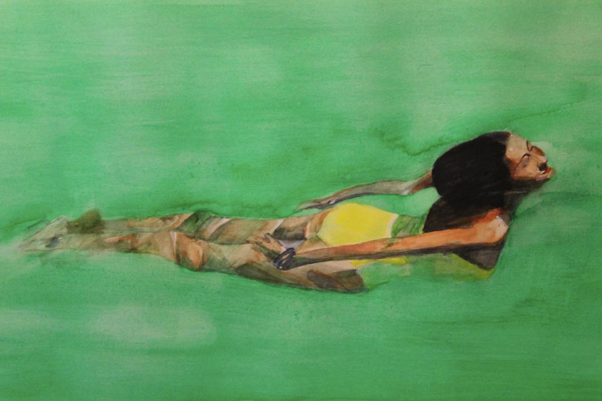 """Piscina verde"" 48 x 68 cms - 2011"