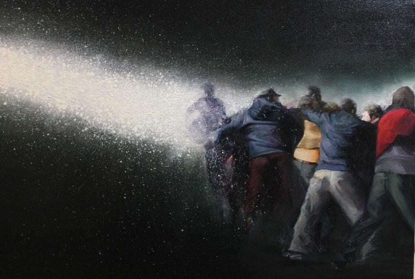 """""""Confrontados"""" 65 x 85 cms - 2012"""