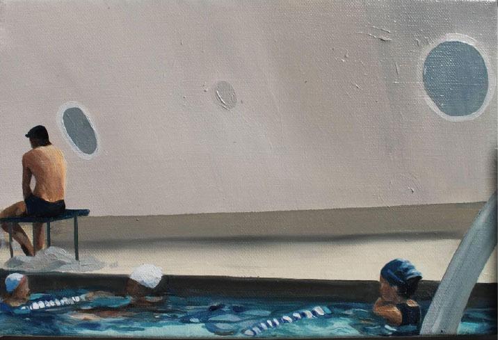 """Dentro de la nave"" 20 x 30 cms - 2012"