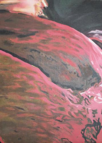 """Brocato rojo"" 35 x 50 cms - 2006"
