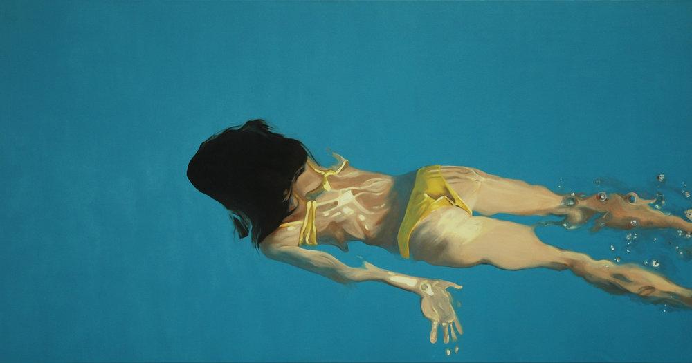 """""""Traje de baño amarillo"""" 90 x 180 cms - 2008"""