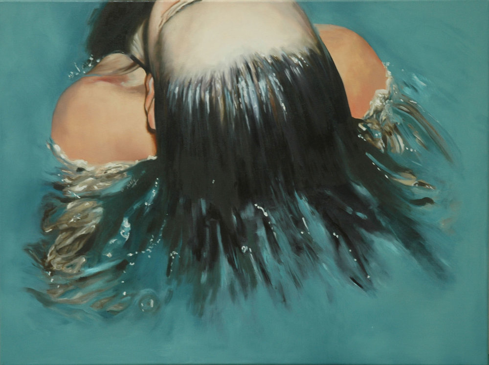 """Mechas"" 60 x 80 cms - 2008"