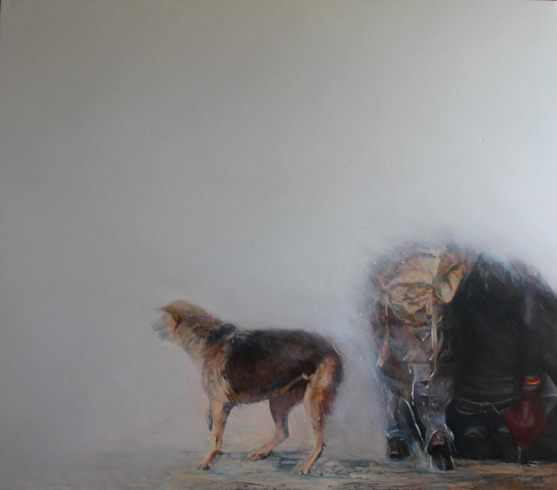 """Particulas elementales"" 160 x 130 cms - 2013"