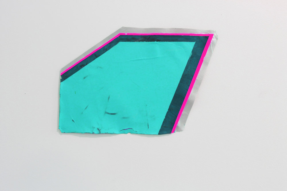 """geometric pool 2"", acrylic paint in acrylic skin, variable size"