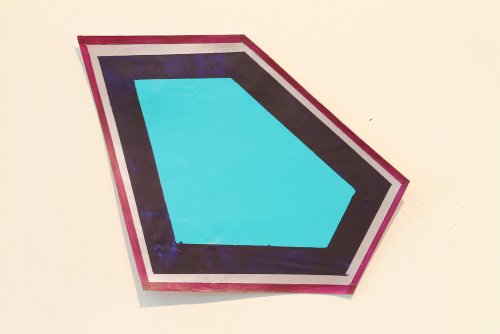 """geometric pool"", acrylic paint on acrylic skin, variable size"