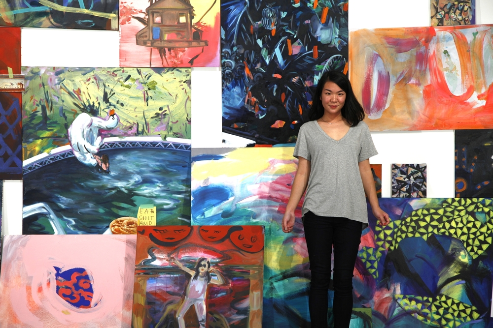 Artist Amy Wong in her studio.