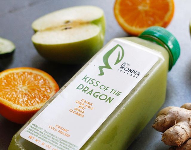 💋🔥 Kiss of the Dragon: sweet but fiery and magical. Made with orange, ginger, mint, green apple, cucumber. ・・・ Tag #juiceaholic to be featured! ・・・ #eatingnyc #fruit #vegan #sandwich #organic #nyc #juice #juicing #plantbased #vegetarian #healthybreakfast #glutenfree #feedfeed #foodporn #veggie #paleo #wholefoods #veganfoodshare #healthy #healthyeating #smoothie #breakfast #diet #nyceats #gramercy #f52grams #healthcoach #strawberry #foodie