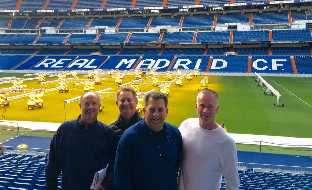 OUR CLUB DIRECTORS IN THE SANTIAGO BERNABEU