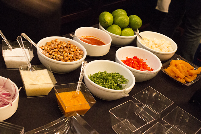 A small selection of the thousands of ingredients that can be used for Ceviche and Tiradito.