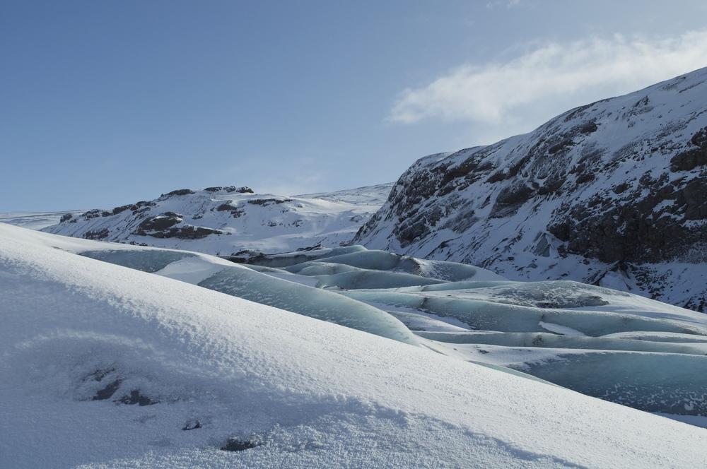 Blue Ice of Sólheimajökull Glacier