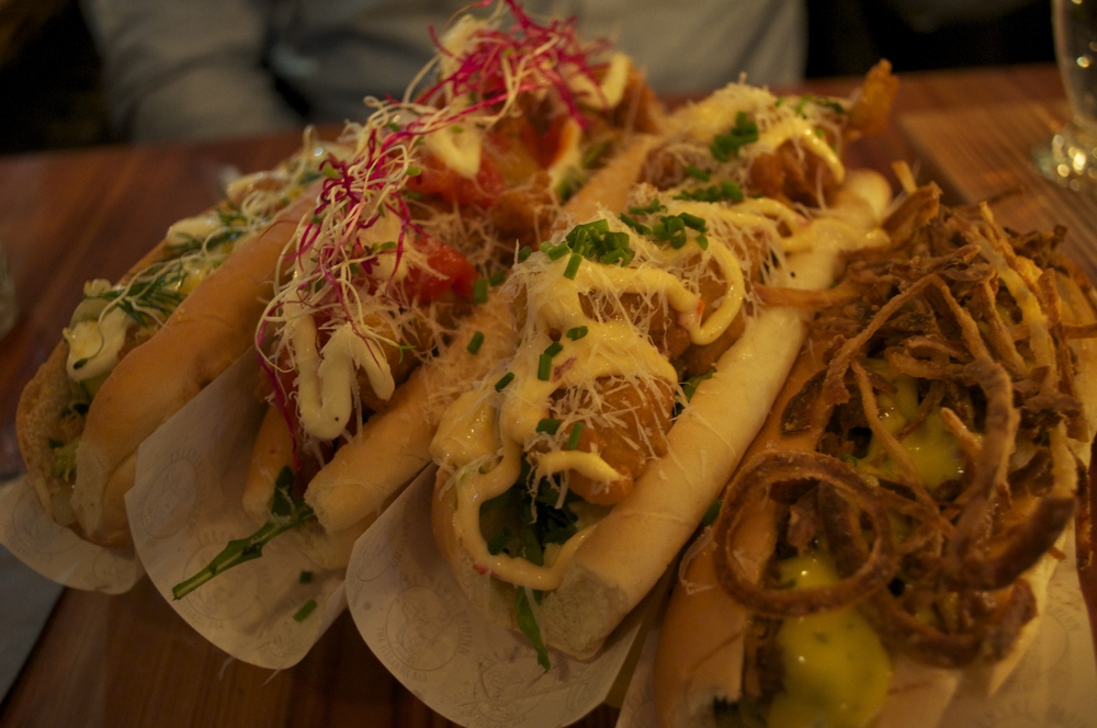 """""""Not Dog"""" - 4 different types of hot dogs"""