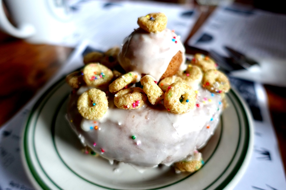 Cap'n crunch cake doughnut