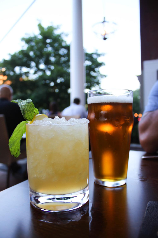 Bourbon smash & a craft beer
