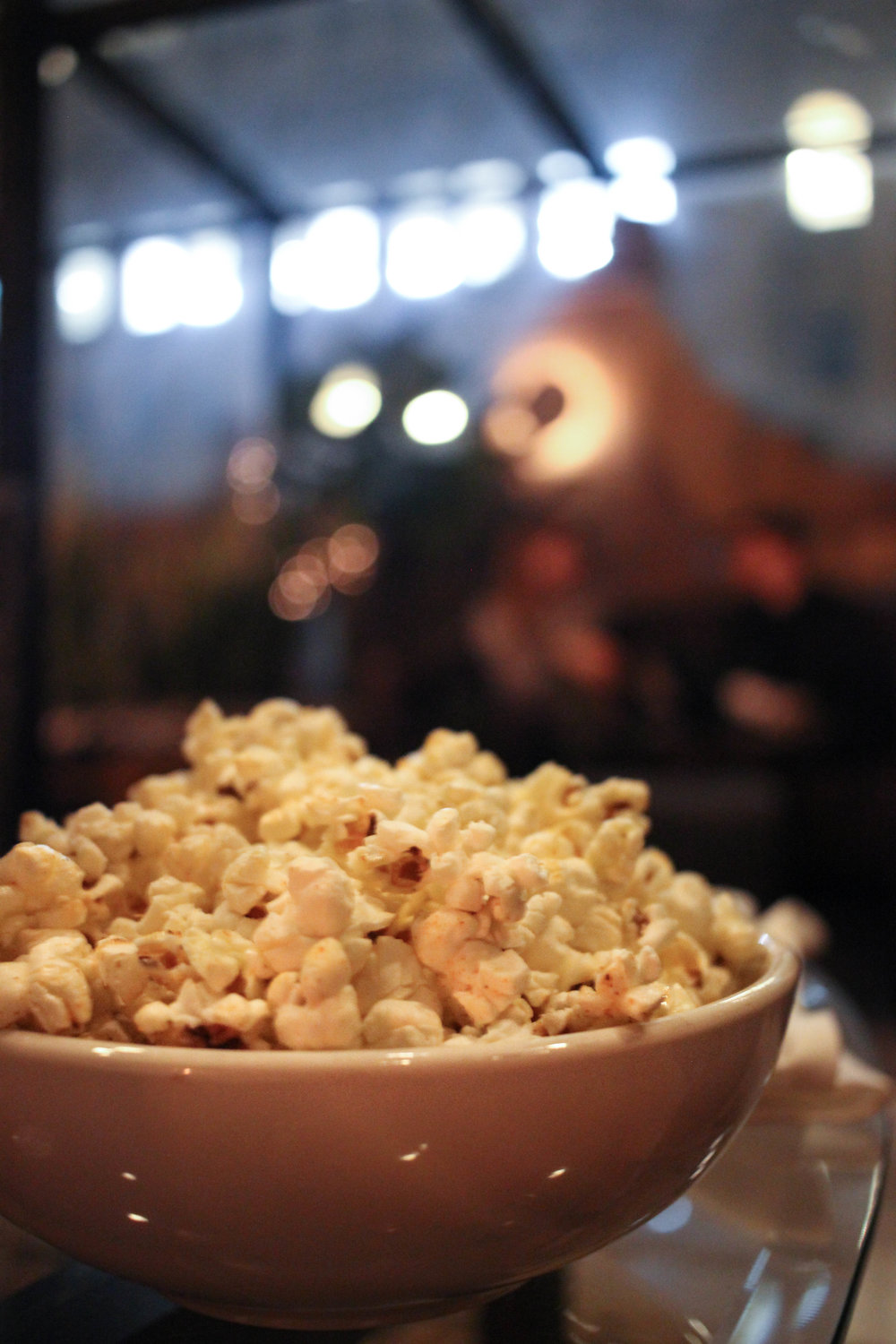 Truffled Popcorn; Seasoned with our special spicy mix,drizzled with Truffle Oil.