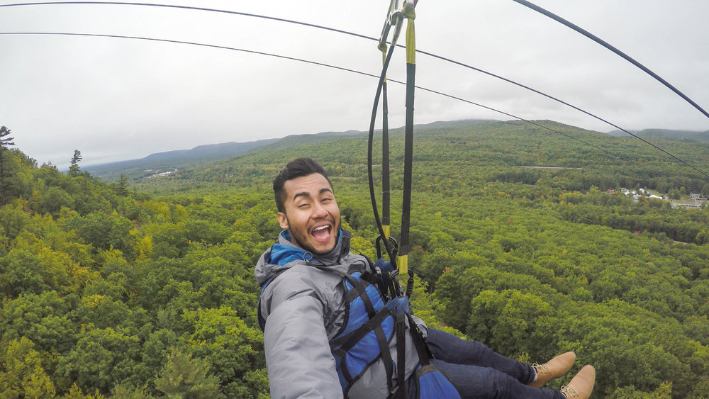 NOW YOU CAN ZIP-LINE FROM THE TOP OF A MOUNTAIN   Adirondacks, New York