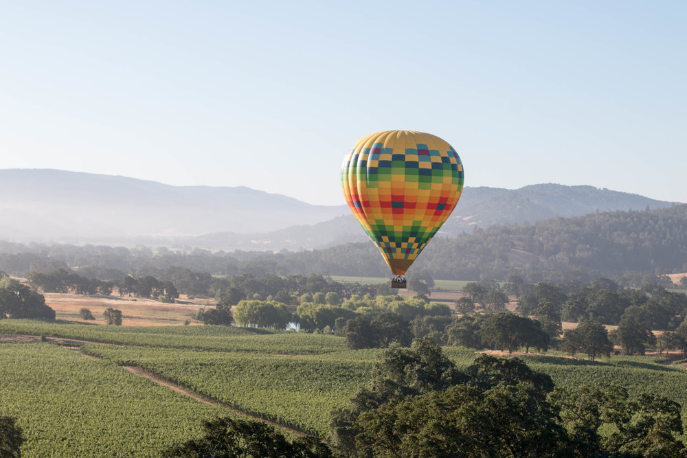 NAPA VALLEY HOT AIR BALLOON RIDE   Napa, California