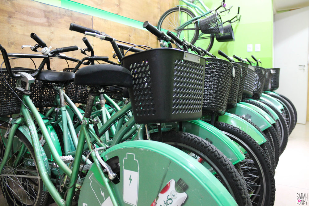 Bikes resting at BA Bikes central.