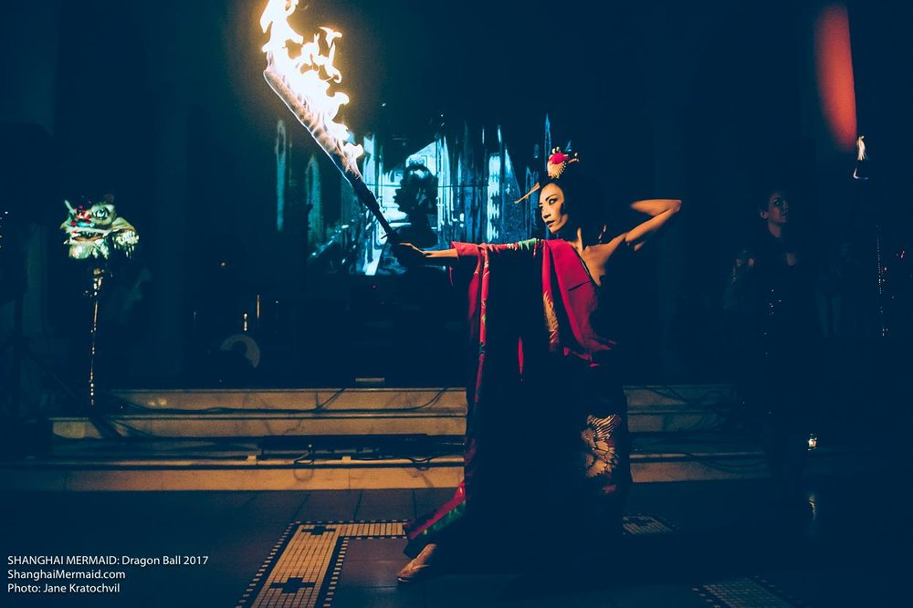 Masae Cathy Satouchi, Japanese ritual fire performance.