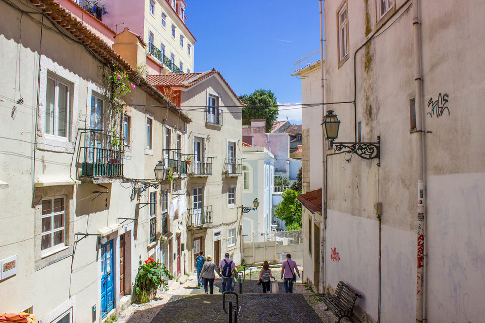 Streets of medieval Lisbon