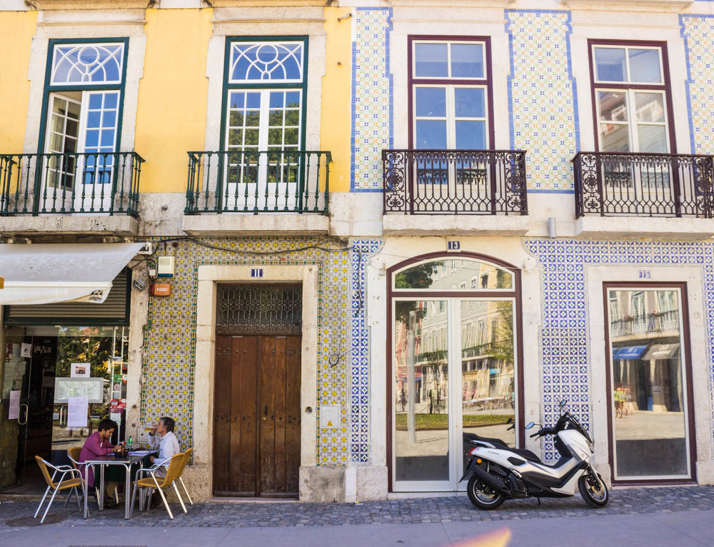 Cafe culture in Lisbon is popular