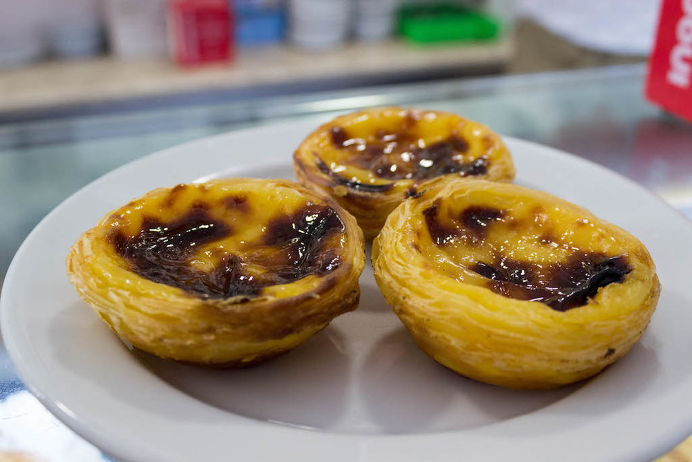 Portugal's famous pastry; pasteis de nata – crispy little tarts filled with egg custard