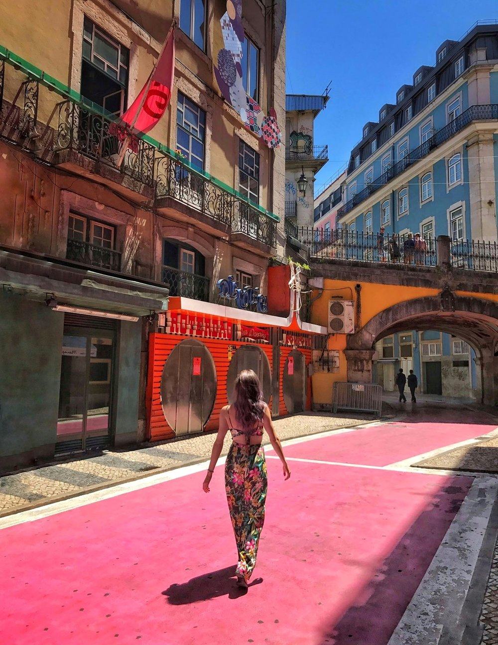 A stroll on Lisbon's pink street