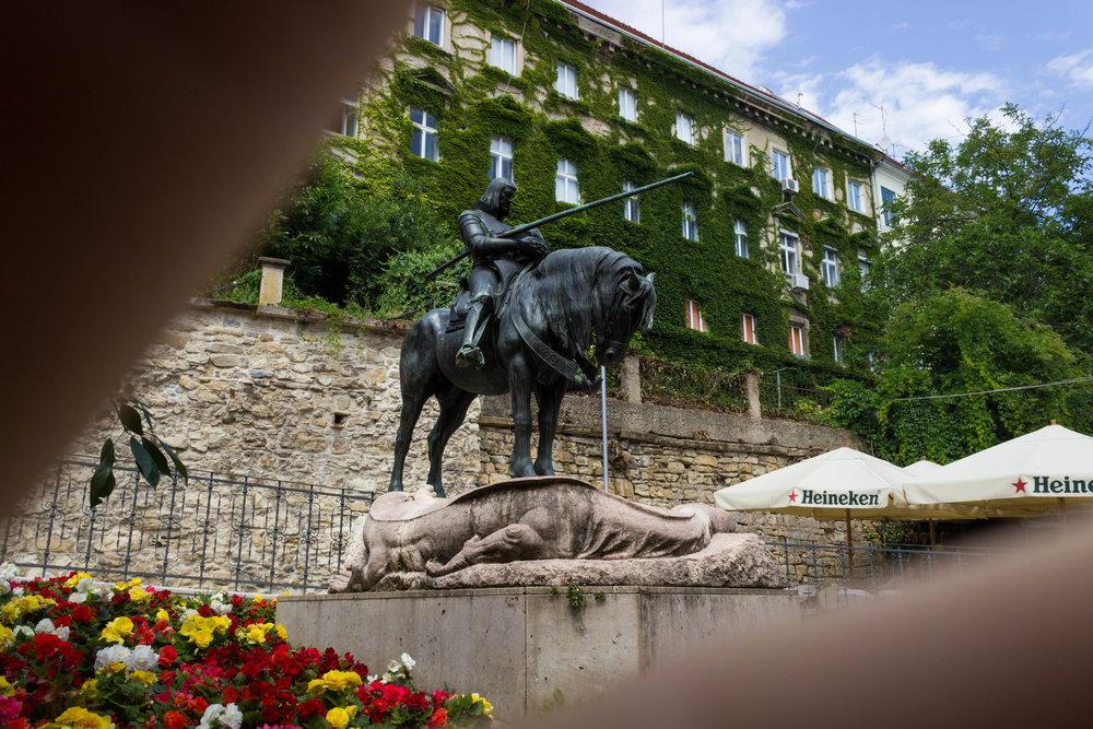 Horse Statue in Gornji Grad