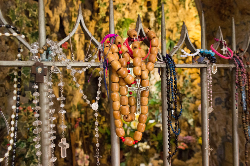 Prayer beads inside Saint Ignatius Church