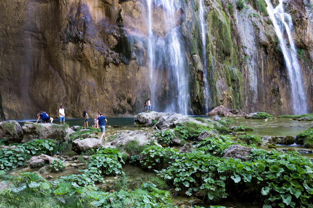Waterfalls at Plitvicka Jezera