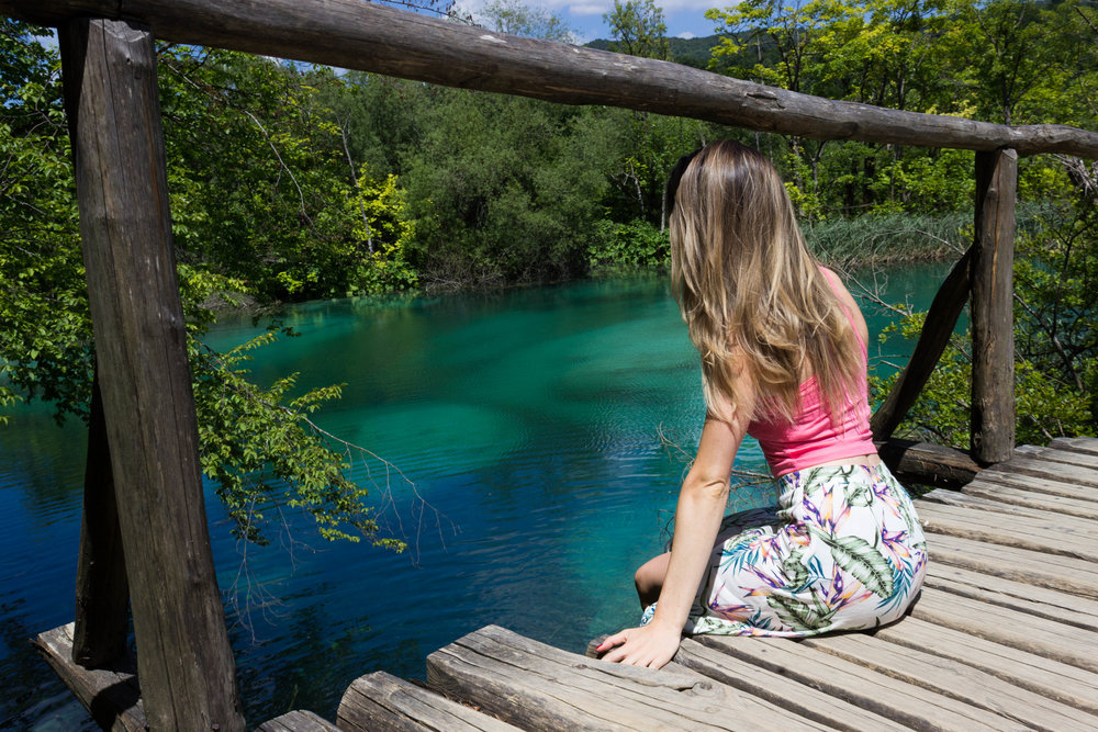 Naturally blue water at Plitvicka Jezera