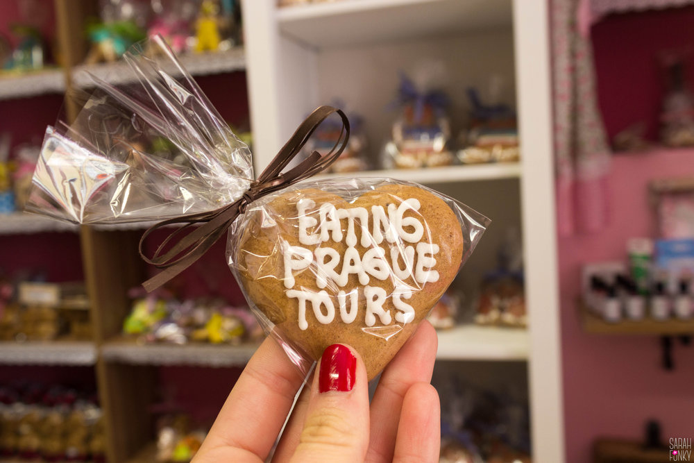 A gingerbread cookie at our first stop