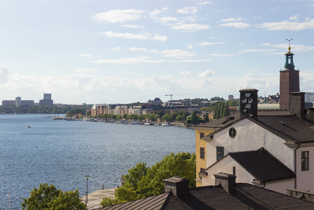 One of the many panoramic views of Stockholm from the roof