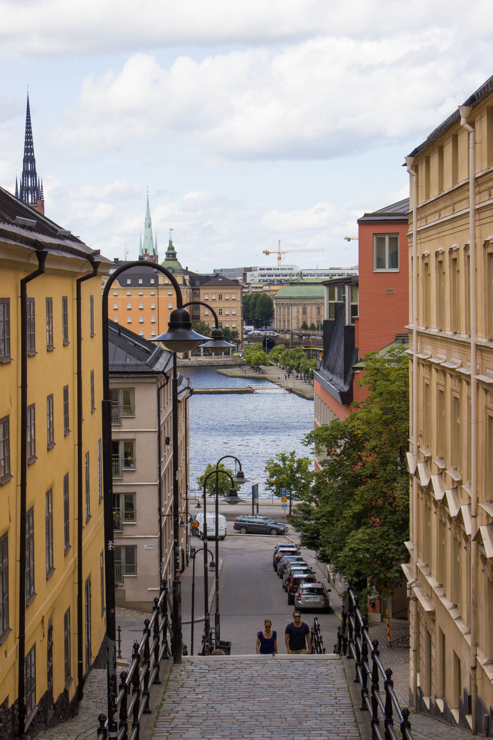 The colorful streets of Stockholm's Old Town
