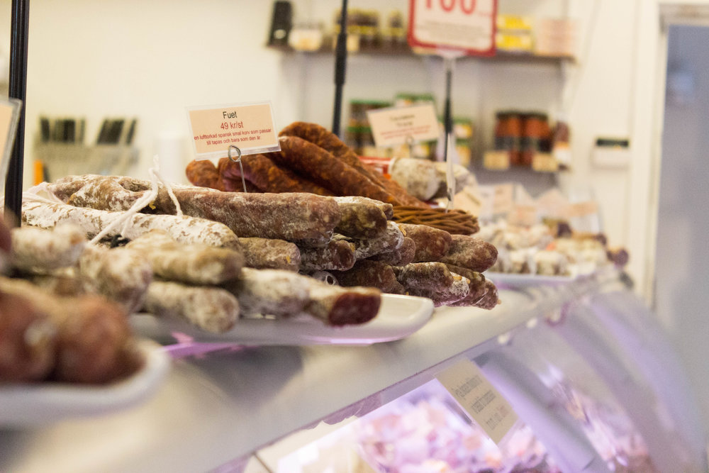 Local meats at Osterqvist