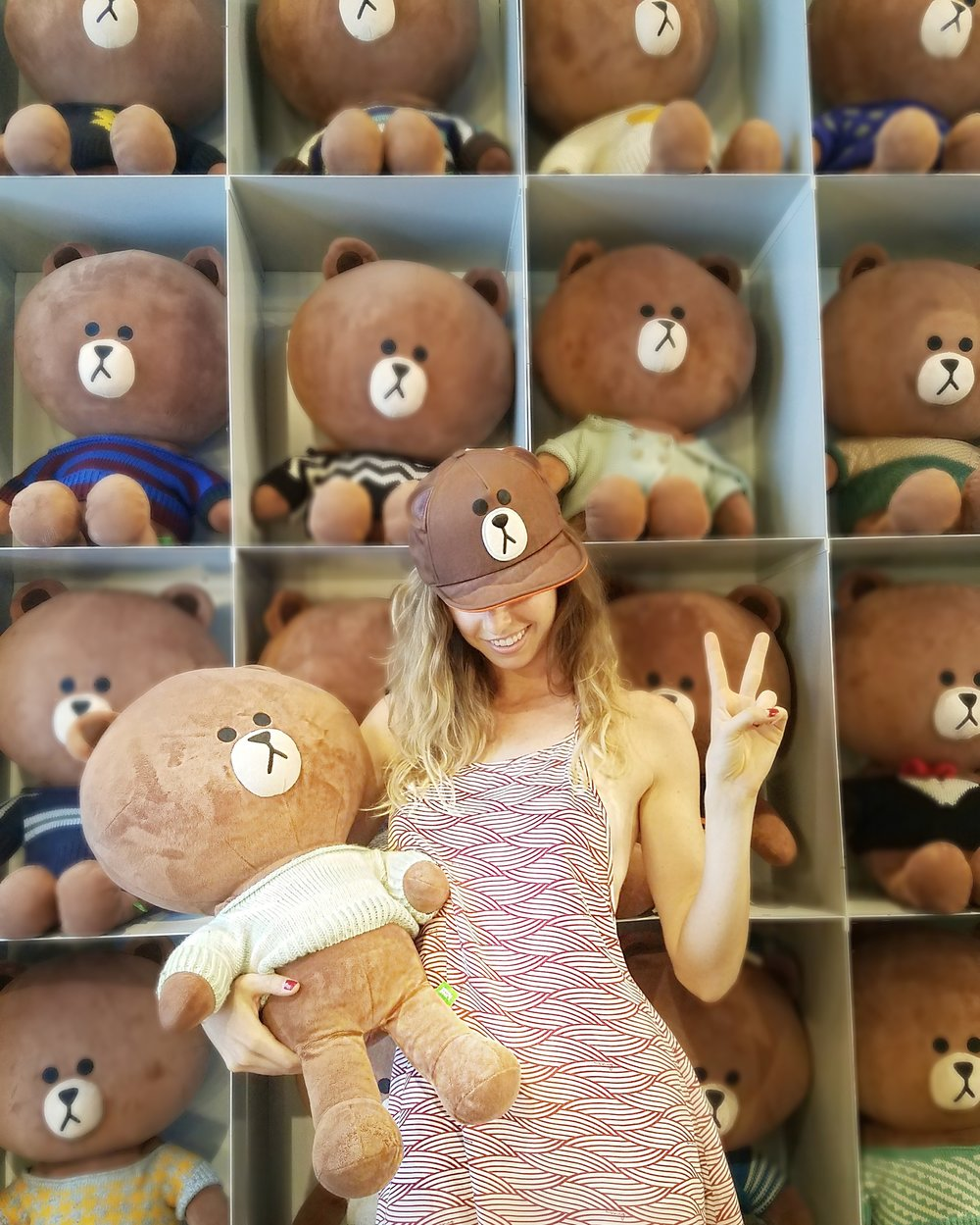 Having fun at Line Friends