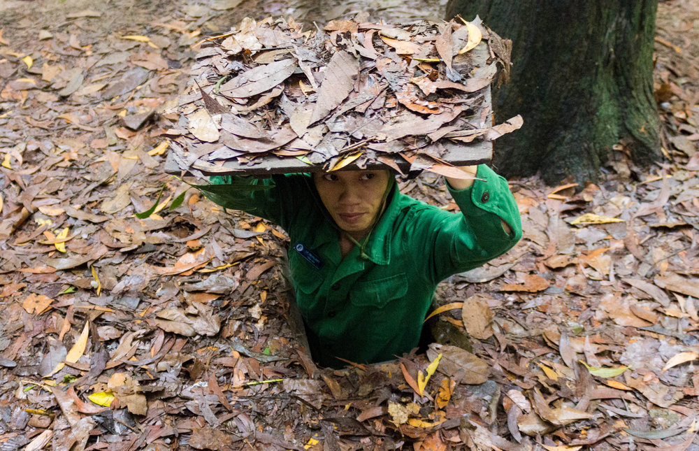 The width of the Cu Chi Tunnels