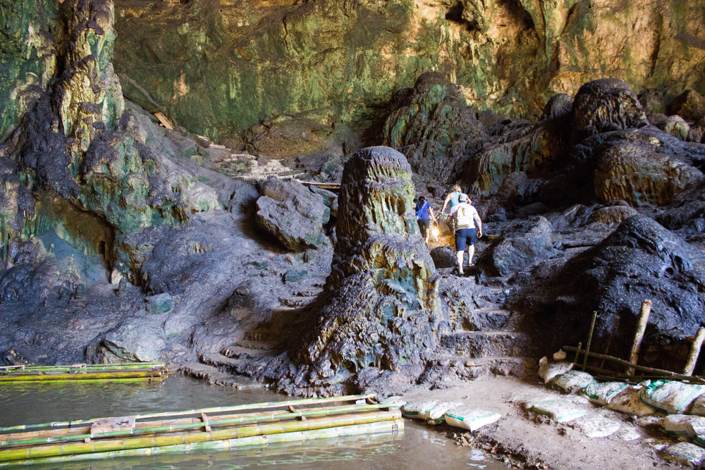 Inside the Tham Lot cave