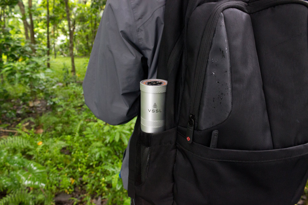 Trekking with our VSSL supplied kit on hand