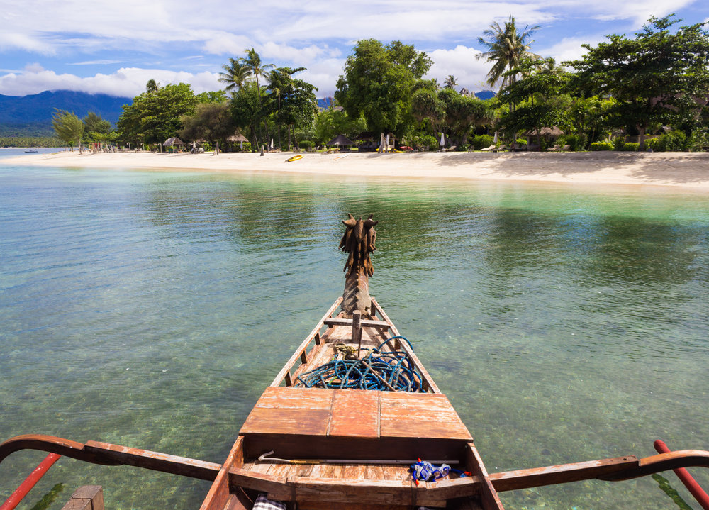 Arriving on Lombok island