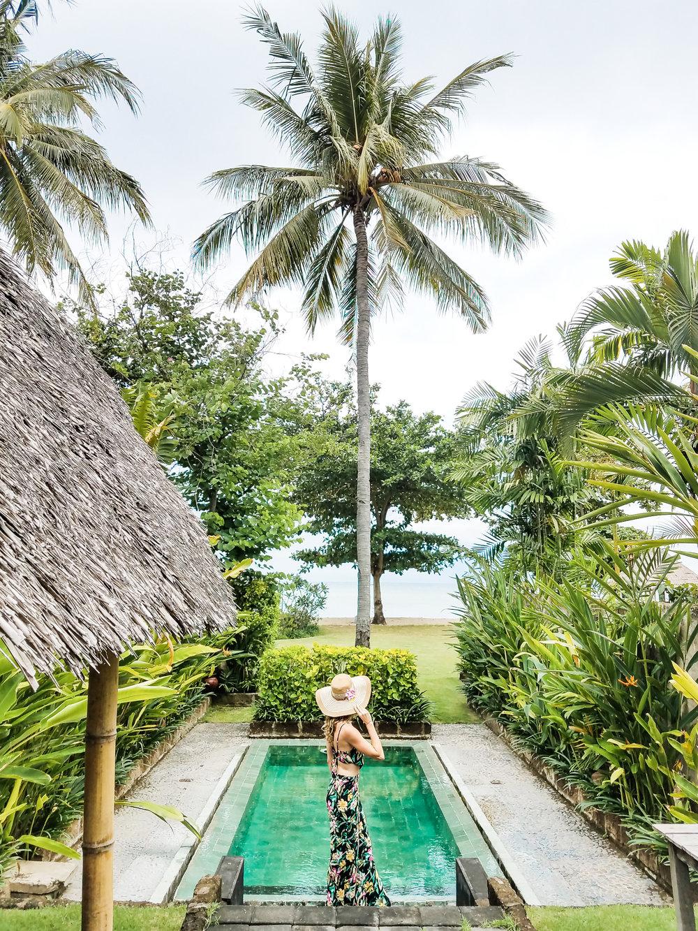 Enjoying my own private pool at Hotel Tugu