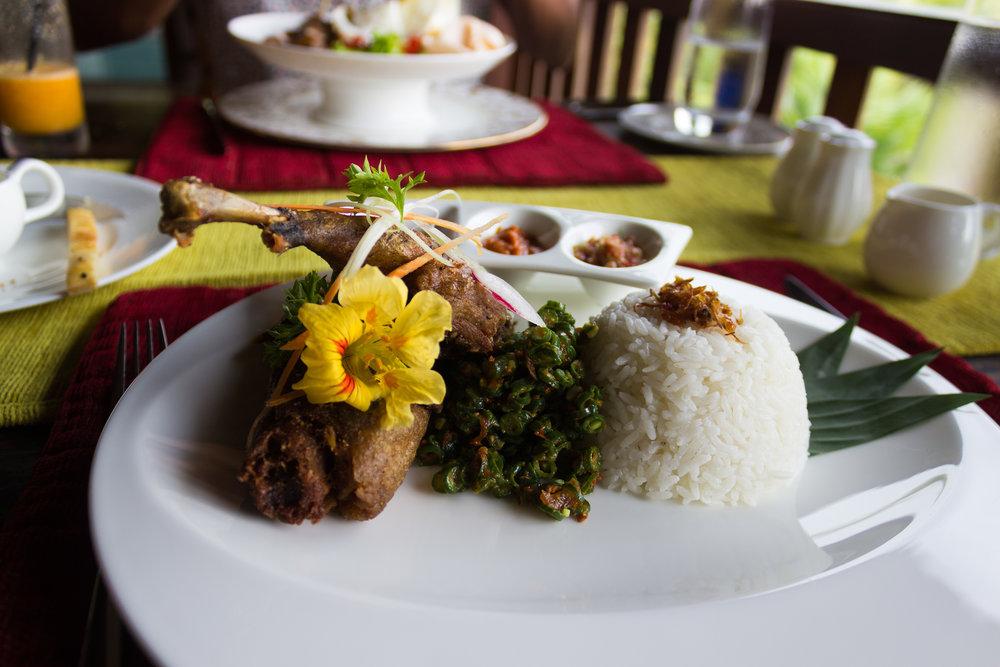 Indonesian cuisine at Dwaraka: The Royal Villas