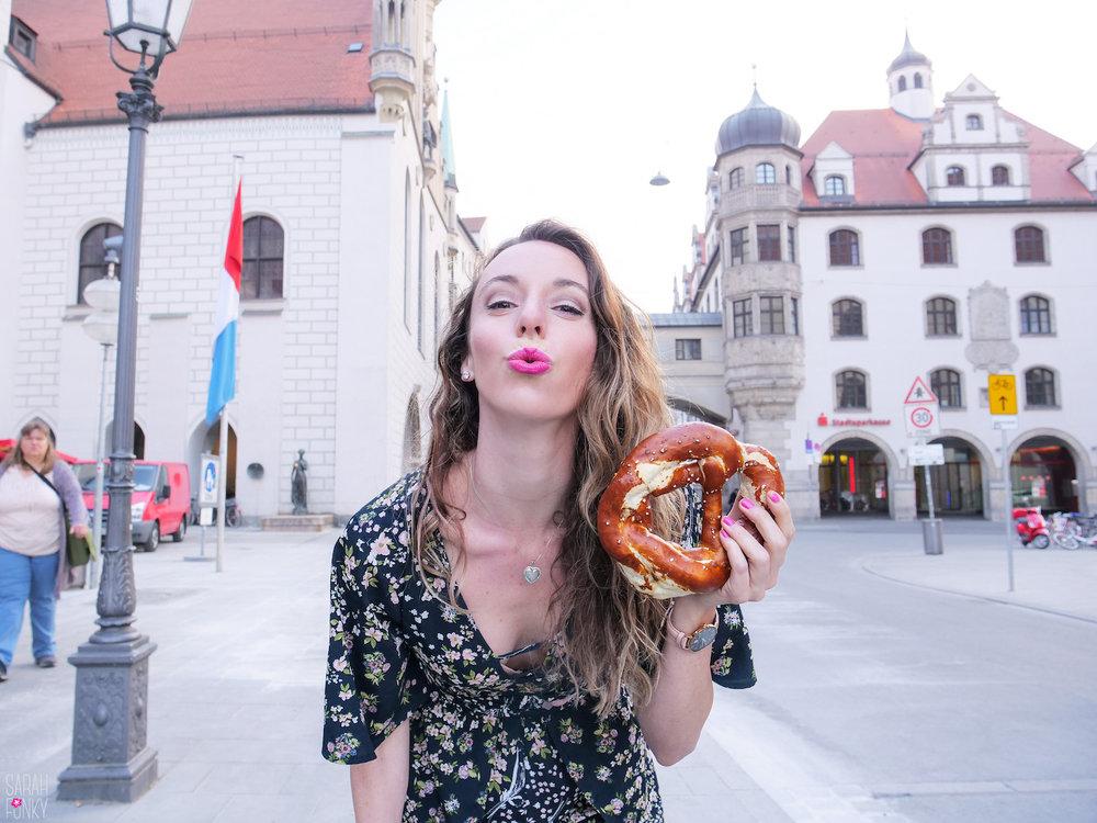 A bavarian pretzel