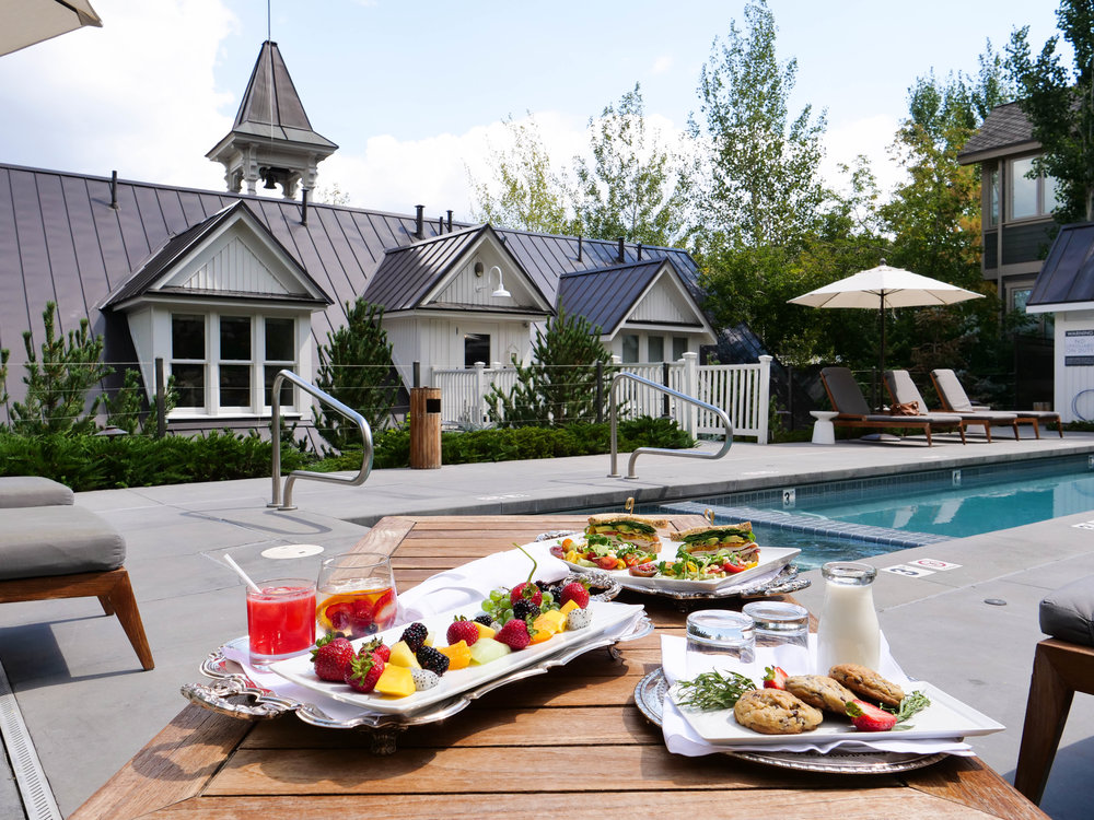 A feast by the pool