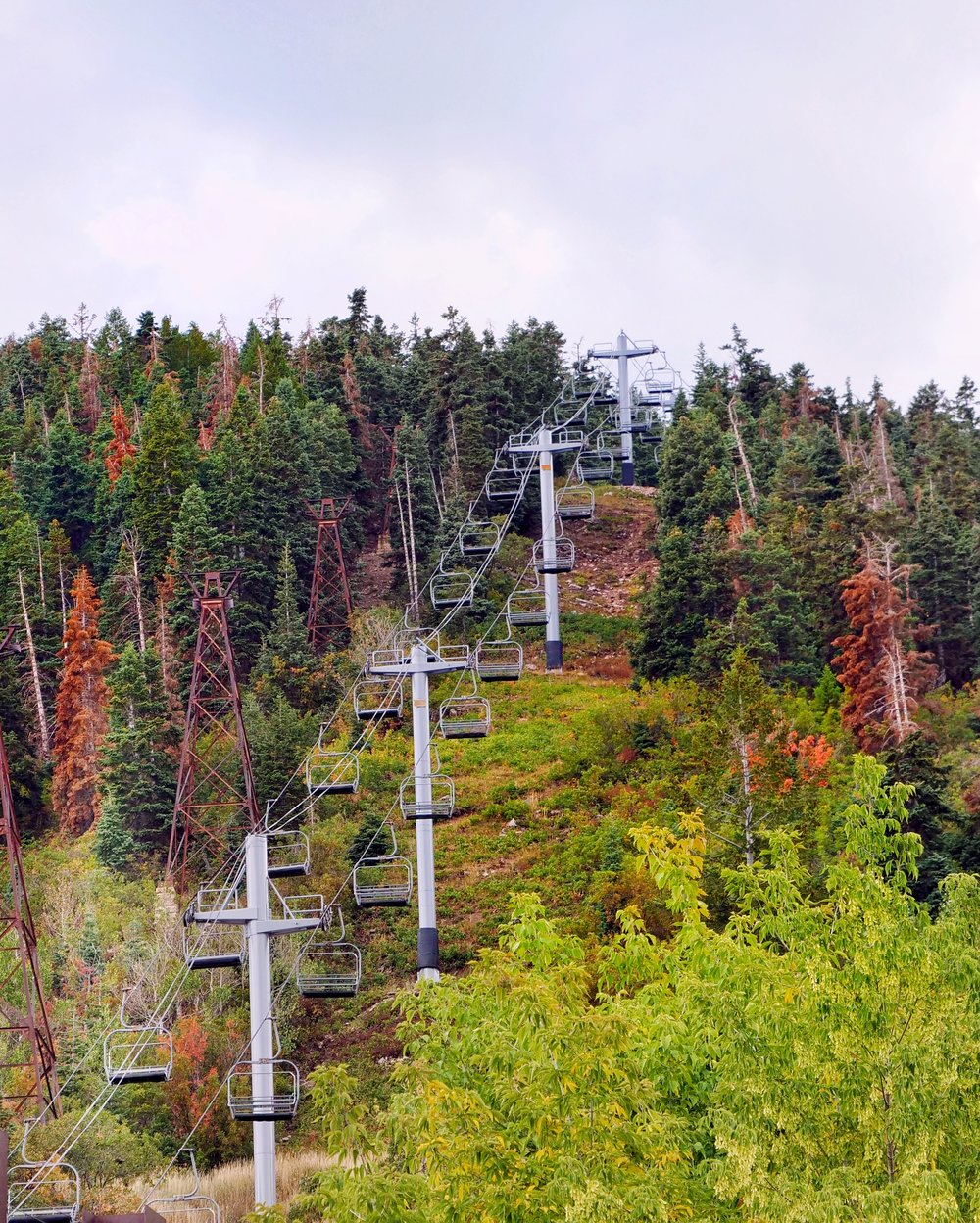 The chairlift going straight into the center of town